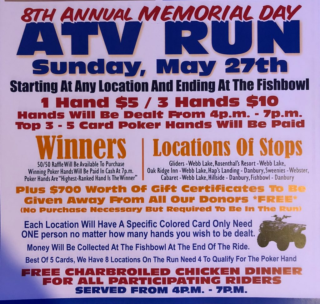 8th Annual Memorial Day ATV Run