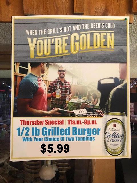 Thursday Hamburger Special